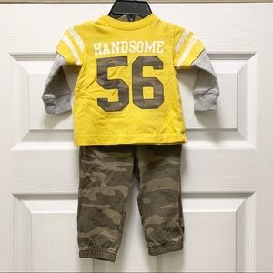 Carter's Long Sleeve Thermal and Camo Cotton Pants
